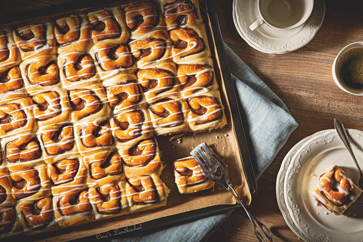 Nussschnecken-Blechkuchen
