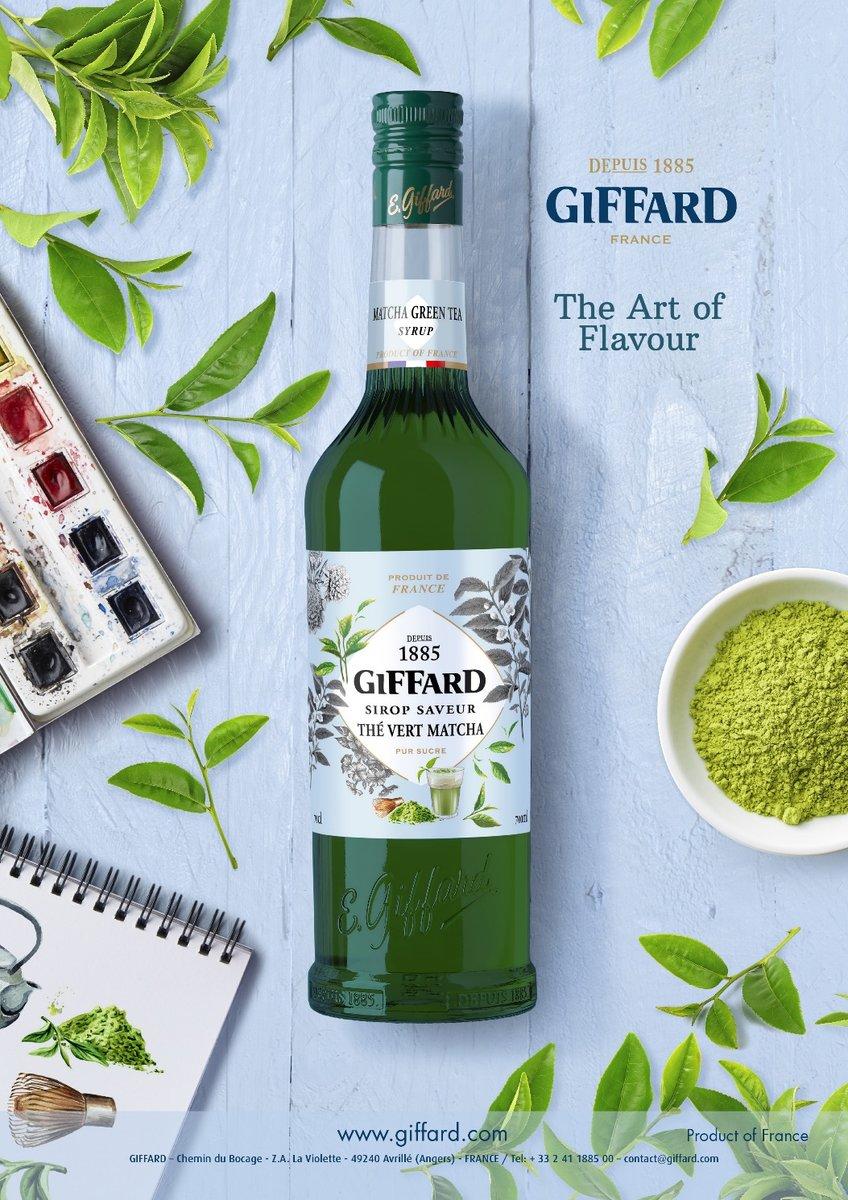 GIFFARD Sirupsortiment: der grüner Tee Matcha Sirup