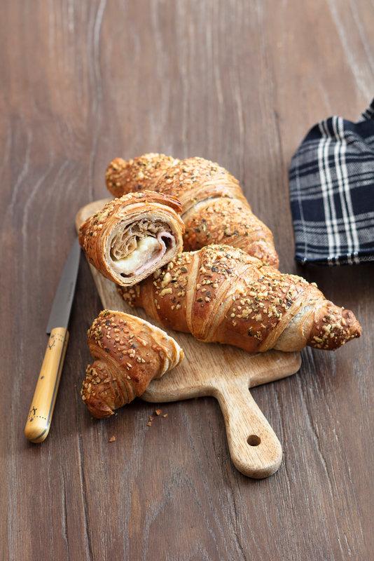 Héritage Käse-Schinken-Croissant mit Dinkel