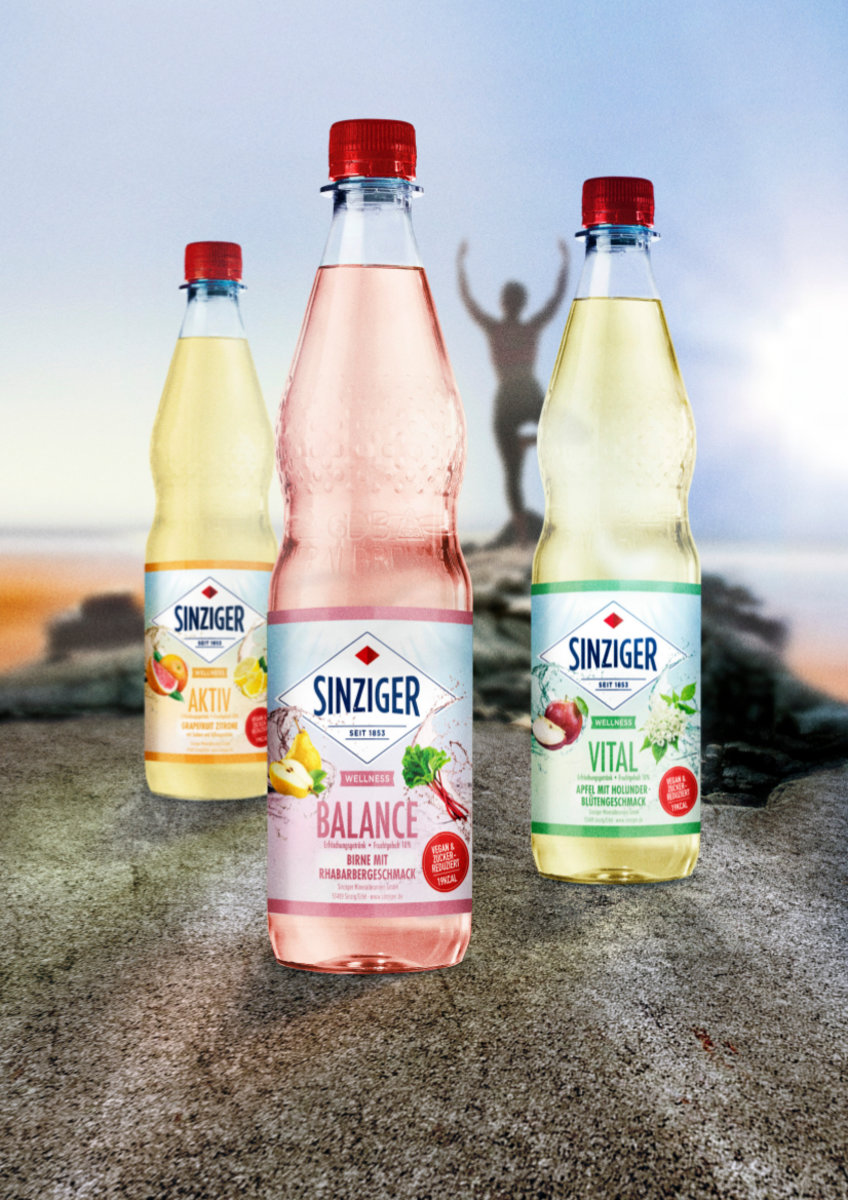 Sinziger Mineralbrunnen präsentiert Wellness-Range Vegan und zuckerreduziert