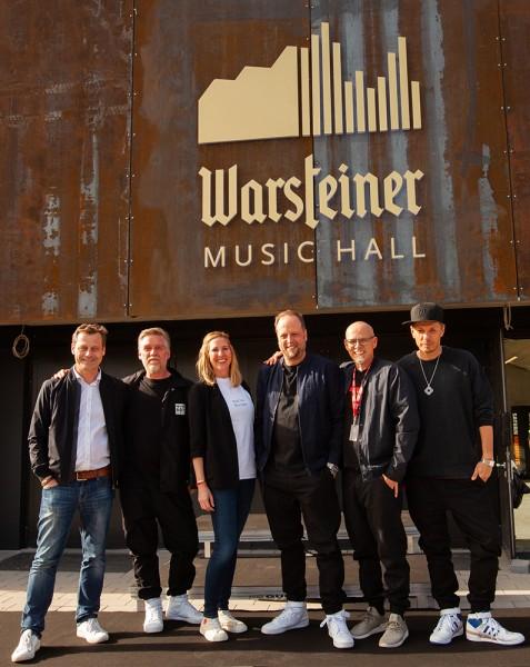 Alexander Richter, And.Ypsilon, Catharina Cramer, Smudo, Thomas D. und Michi Beck. (Bildrechte/Urheber: Warsteiner Brauerei)