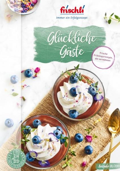 """Titel der Broschüre """"Glückliche Gäste"""" (Bildrechte/Urheber: frischli)"""