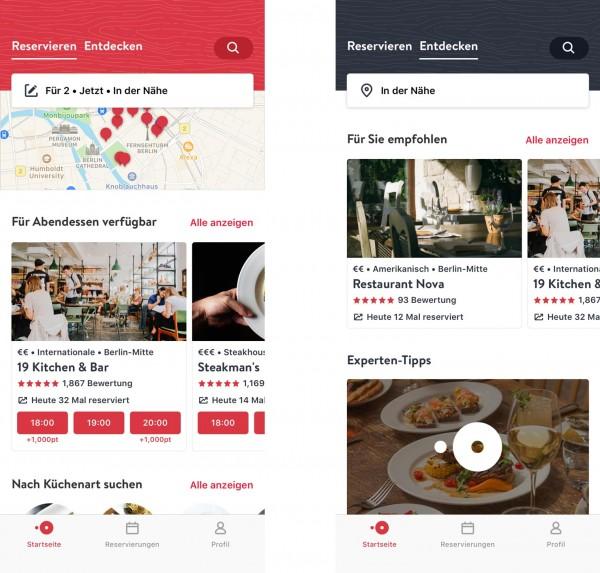 OpenTable-App Reservieren (Bildrechte/Urheber: Open Table)