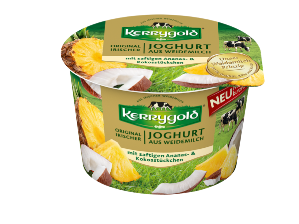 Kerrygold Joghurt Ananans Kokos (Bildrechte/Urheber: Kerrygold)