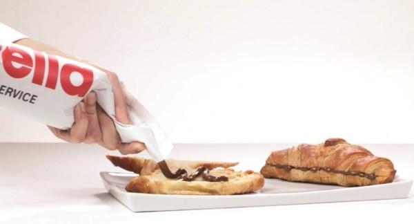 Mit dem nutella Spritzbeutel lassen sich Speisen verfeinern. (Bildrechte/Urheber: Hellma)