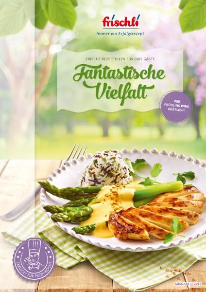 Rezeptbroschüre Fantastische Vielfalt von frischli für den Frühling 2018 (Bildrechte/Urheber: frischli Milchwerke)