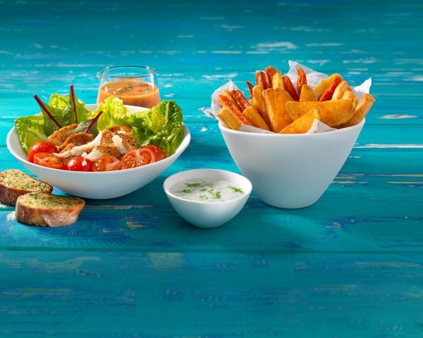 """Die Dips """"Salat- und Kartoffelgold"""" von Dr. Oetker Professionals (Bildrechte/Urheber: Dr. Oetker Professionals)"""