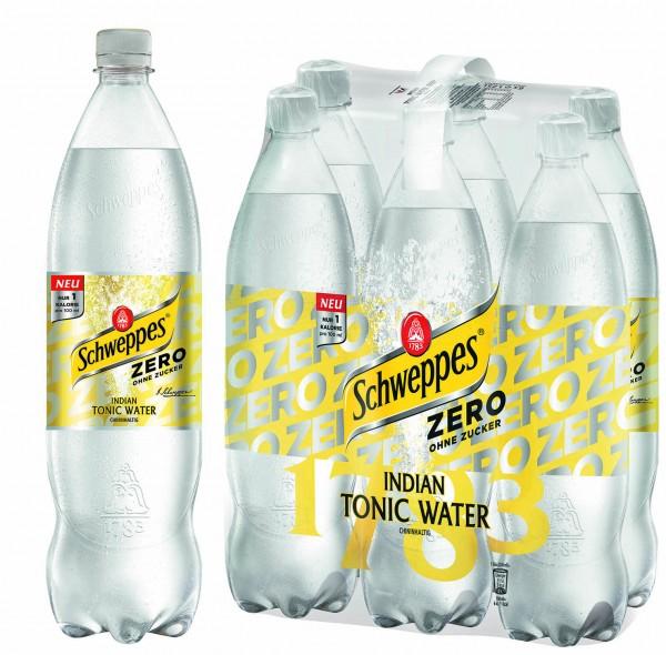6x125l Tonic Water ZERO (Bildrechte/Urheber: Schweppes Deutschland GmbH)
