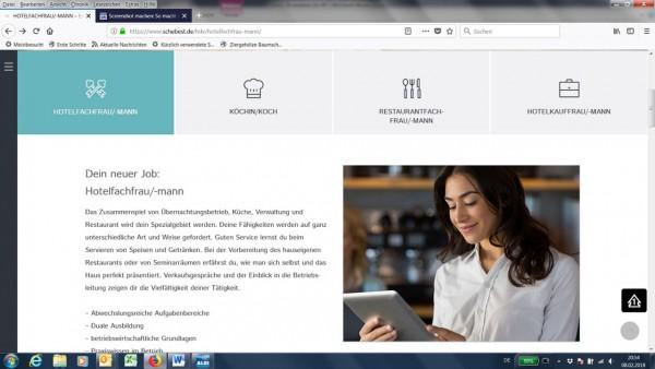 Neuer Look für die Website www.exzellente-ausbildung.de der Hoteldirektorenvereinigung Deutschland. (Bildrechte/Urheber: Hoteldirektorenvereinigung Deutschland.e.V.)