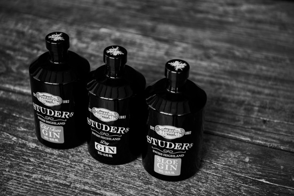 Studer's Gin Variationen (Bildrechte/Urheber: Bremer Spirituosen Contor GmbH)